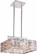 CWI 5700P16-8-613 Squill Polished Nickel Halogen 16  Ceiling Pendant Light