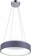 CWI 7103P18-1-167 Arenal Modern Gray & White LED 18 Hanging Light Fixture
