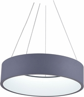 CWI 7103P24-1-167-A Arenal Contemporary Gray & White LED 24 Drop Ceiling Light Fixture