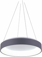 CWI 7103P24-1-167 Arenal Contemporary Gray & White LED 24 Ceiling Pendant Light