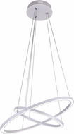 CWI 7112P24-103 Chalice Contemporary White LED Drop Lighting Fixture