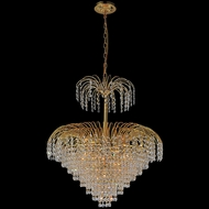 CWI 8011P24G Palm Tree Contemporary Gold Pendant Hanging Light