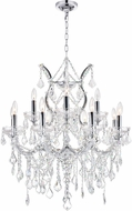 CWI 8311P30C-13 (Clear) Maria Theresa Chrome Hanging Chandelier