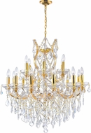 CWI 8311P32G-19 (Clear) Maria Theresa Gold Chandelier Lamp