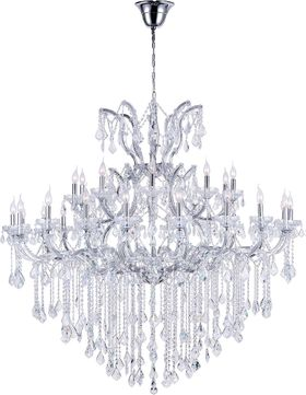 CWI 8311P60C-31 (Clear) Maria Theresa Chrome Ceiling Chandelier