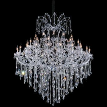 CWI 8311P64C-55 (Clear)-B Maria Theresa Chrome Hanging Chandelier