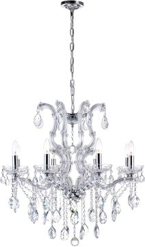 CWI 8312P28C-8 (Clear) Colossal Chrome Chandelier Light