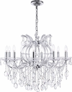 CWI 8312P32C-10 (Clear) Colossal Chrome Chandelier Lighting