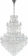 CWI 8318P70C-84 (Clear)-A Maria Theresa Chrome Chandelier Lamp