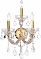 CWI 8318W12G-3 Maria Theresa Gold Wall Lighting Fixture