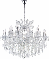 CWI 8319P36C-19 (Clear) Maria Theresa Chrome Chandelier Light