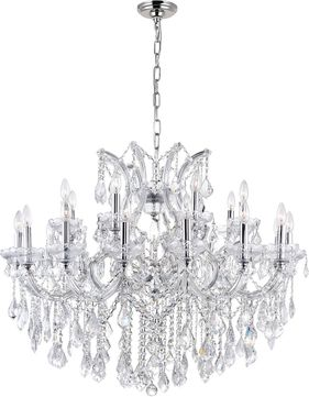 CWI 8319P42C-25 (Clear) Maria Theresa Chrome Ceiling Chandelier