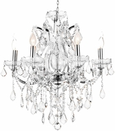 CWI 8397P24C-6(Clear) Maria Theresa Chrome Hanging Chandelier