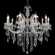 CWI 8399P32C-10 (Clear) Riley Chrome Lighting Chandelier