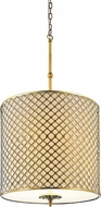 CWI 9835P18-8-605-A Gloria Modern French Gold 18 Drum Lighting Pendant