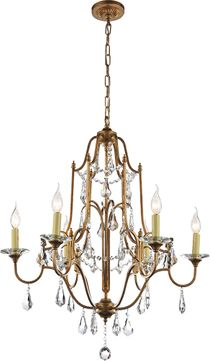 CWI 9836P28-6-125 Electra Oxidized Bronze Lighting Chandelier