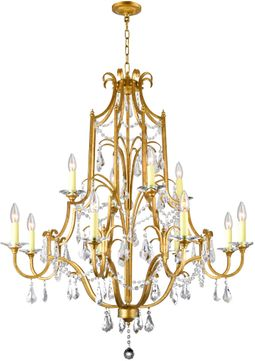 CWI 9836P37-12-125 Electra Oxidized Bronze Chandelier Lamp