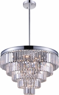 CWI 9969P24-12-601 Weiss Chrome 24 Hanging Lamp
