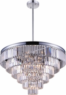 CWI 9969P30-15-601 Weiss Chrome 30 Hanging Light