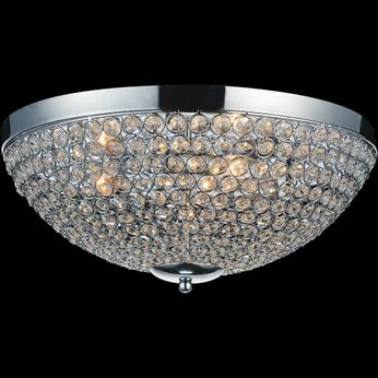 CWI QS8357C12C Globe Chrome Halogen 12  Ceiling Lighting Fixture