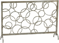 Cyan 02244 Circle Modern Silver Leaf Fireplace Screen