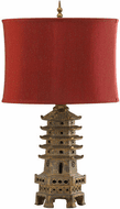 Cyan 02575-1 Pagoda Asian Antique Gold LED Table Lamp