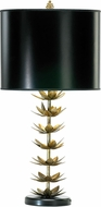 Cyan 02806 Lotus Leaf Modern Golden Patina Table Light