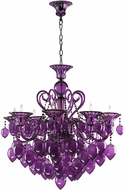 Cyan 02996 Bella Vetro Contemporary Chrome Chandelier Light