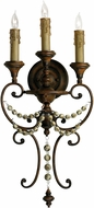 Cyan 03009 Meriel Traditional Antiqued Sienna Wall Sconce