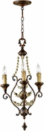 Cyan 03010 Meriel Traditional Antiqued Sienna Mini Chandelier Lighting