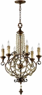 Cyan 03011 Meriel Traditional Antiqued Sienna Mini Lighting Chandelier