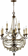 Cyan 03012 Meriel Traditional Antiqued Sienna Chandelier Lamp