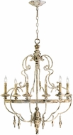 Cyan 04160 Davinci Traditional Persian White Chandelier Light