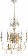 Cyan 04170 Motivo Traditional Persian White Ceiling Chandelier