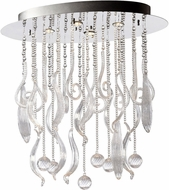 Cyan 04668 Mirabelle Contemporary Chrome Ceiling Lighting