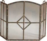 Cyan 04900 Lincoln Traditional Raw Steel Fireplace Screen