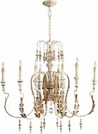 Cyan 05051 Motivo Traditional Persian White Hanging Chandelier