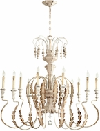 Cyan 05052 Motivo Traditional Persian White Chandelier Light