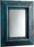 Cyan 05101 Chinito Contemporary Ancient Blue Wall Mirror