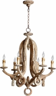 Cyan 05147 Galleon Traditional Parsons White Chandelier Lighting