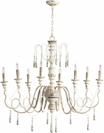 Cyan 05714 Chantal Traditional Parisian Blue Chandelier Lighting