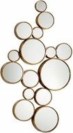 Cyan 05825 Bubbles Modern Gold Mirror