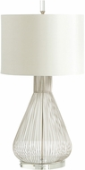 Cyan 05899 Whisked Fall Contemporary Satin Nickel Table Lighting