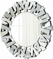 Cyan 05938 Circle Cityscape Contemporary Clear Wall Mirror