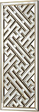 Cyan 05939 Deco Divide Contemporary Clear and Gold Wall Mounted Mirror