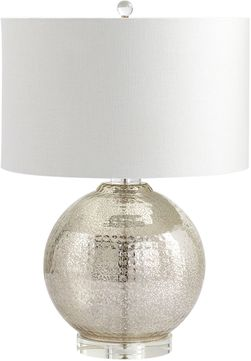 Cyan 06321 Hammered Reflections Contemporary Mercury Table Lamp