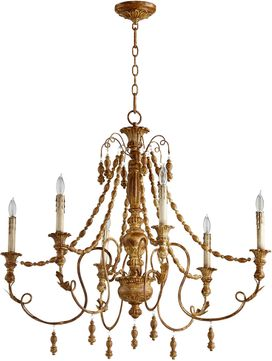 Cyan 06578 Lyon Traditional French Umber Chandelier Light