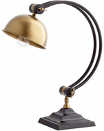 Cyan 07031-1 Silverbelle Contemporary Black and Gold Desk Lamp