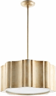 Cyan 07628 Cloud Contemporary Aged Silver Leaf Drum Hanging Light