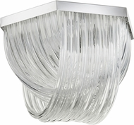 Cyan 07989 Galicia Contemporary Chrome Flush Lighting